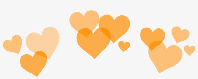 Orange Aesthetic Heart Crown