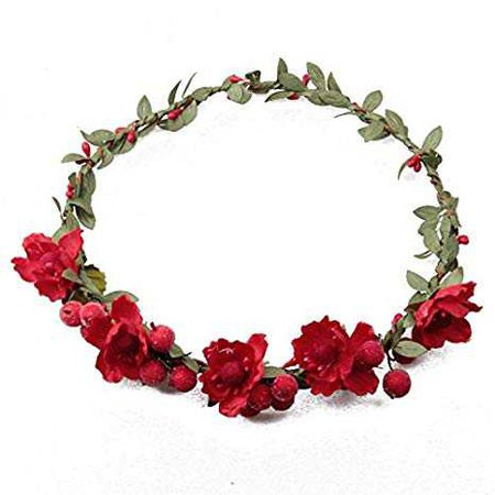 Love Sweety Flower Berries Crown Headband for Wedding Festivals HH7 (Red) at Amazon Women's Clothing store: