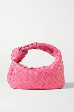 Pink Jodie mini knotted intrecciato leather tote | Bottega Veneta | NET-A-PORTER