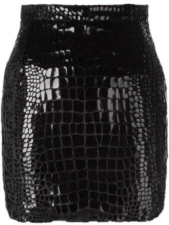 Saint Laurent Scale Effect 80's Mini Skirt - Farfetch