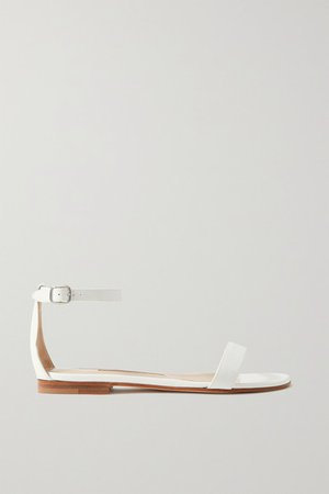 Chafla Patent-leather Sandals - White