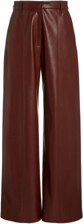 Nanushka Cleo Straight-Leg Vegan Leather Pants