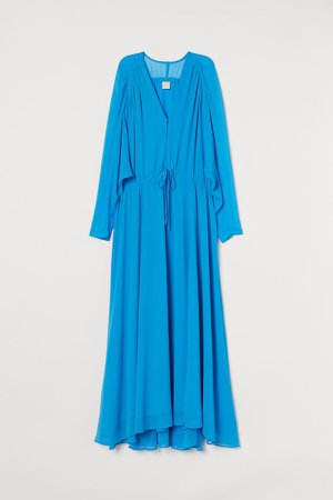 Long Chiffon Dress - Blue