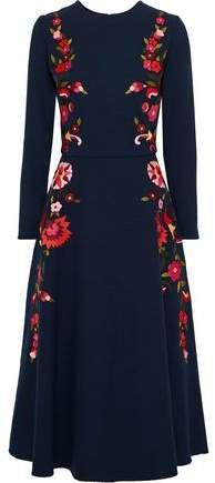 Embellished Wool-blend Midi Dress