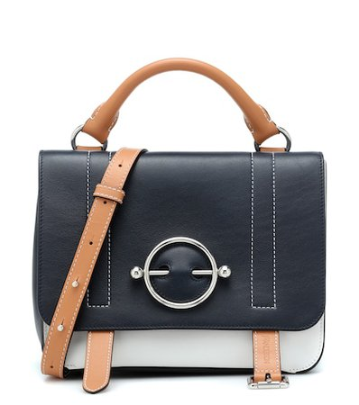 Disc Satchel leather shoulder bag