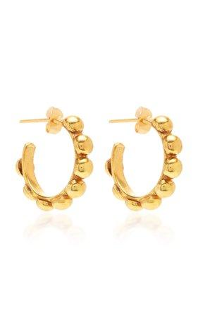 Mini Créole Gold-Plated Earrings by Sylvia Toledano | Moda Operandi