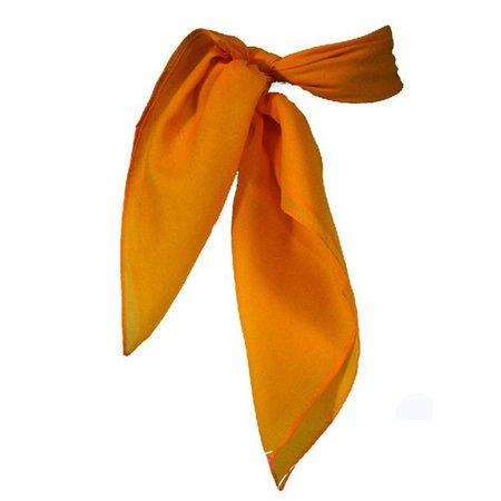 Adult and Youth - 50's Vintage Style Sheer Chiffon Square Scarf - Orange - Walmart.com - Walmart.com