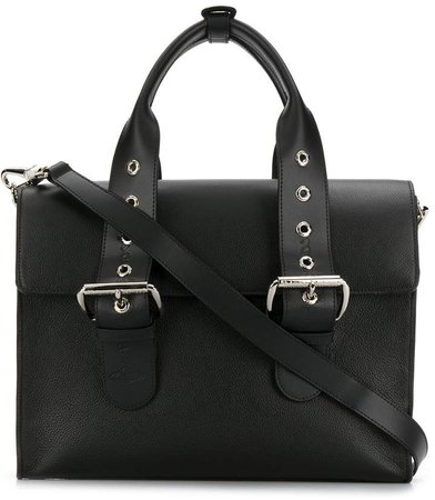 double buckle tote bag