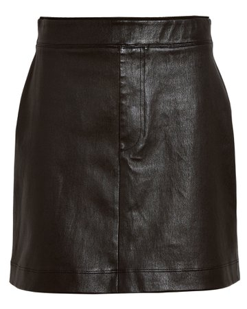 Helmut Lang Core Stretch Leather Mini Skirt | INTERMIX®