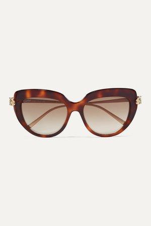 Cartier Eyewear | Panthère Wild D-frame tortoiseshell acetate and gold-tone sunglasses | NET-A-PORTER.COM