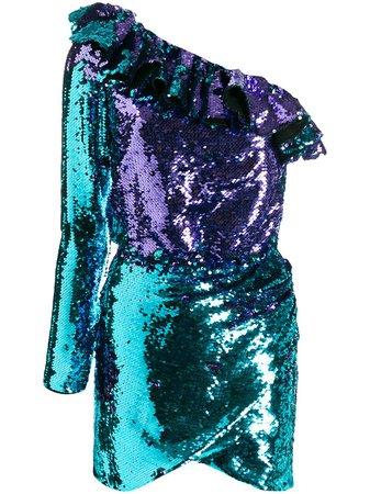 Amen sequin-embroidered asymmetric dress