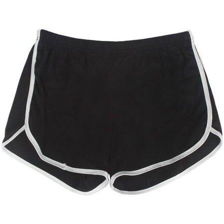 LUCLUC Black Yoga Sports Shorts