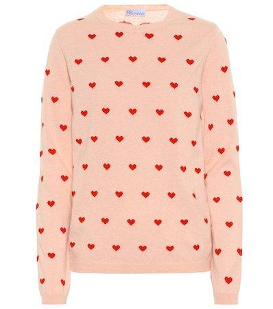Heart wool-blend sweater