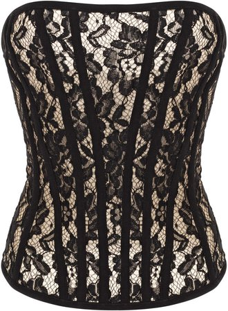 Rasario Leavers Lace Bustier Top