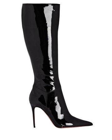 Amina Muaddi Malvina Knee-High Patent Leather Boots | INTERMIX®