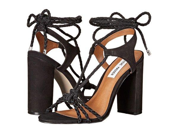 Steve Madden - Samarie (Black Nubuck) Women's Dress Sandals