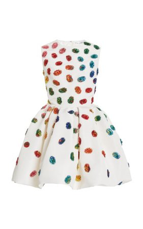 Embellished Silk Mini Dress By Oscar De La Renta | Moda Operandi