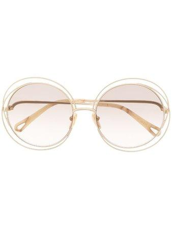 Chloé Eyewear oversized-round frame sunglasses - FARFETCH