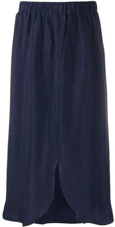 Antonelli front slit midi skirt