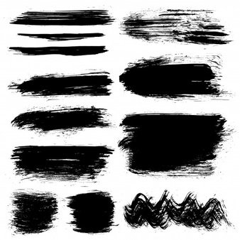 Black brush strokes collection Vector | Free Download