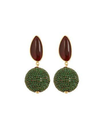 Lizzie Fortunato Bacchus Pavé Drop Earrings | INTERMIX®