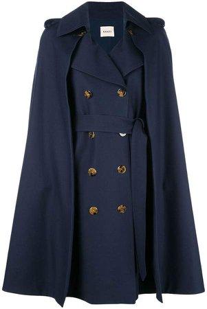 Khaite cape double-breasted coat