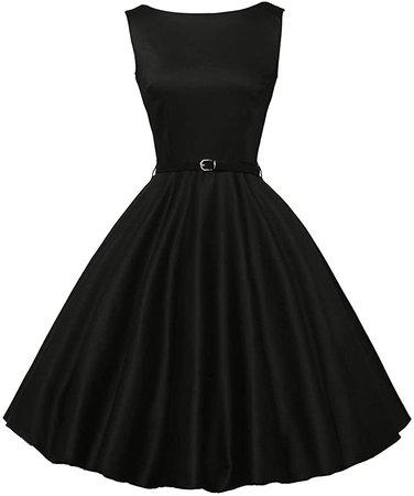 GRACE KARIN Boatneck Sleeveless Vintage Tea Dress with Belt at Amazon Women's Clothing store