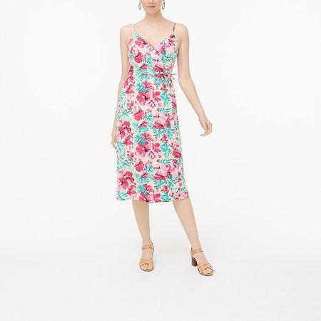 J.Crew Factory: Cotton Wrap Dress For Women