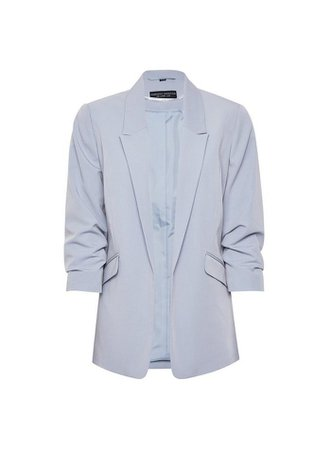 Silver Ruched Sleeve Jacket | Dorothy Perkins