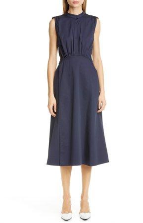 Cotton Poplin A-Line Midi Dress