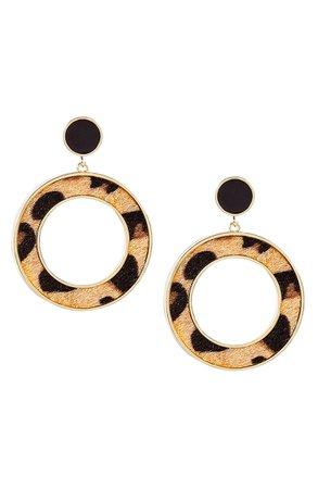 Uncommon James by Kristin Cavallari Leopard Drop Earrings | Nordstrom