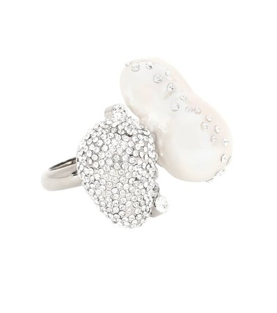 Givenchy - Anello con cristalli e perla | Mytheresa