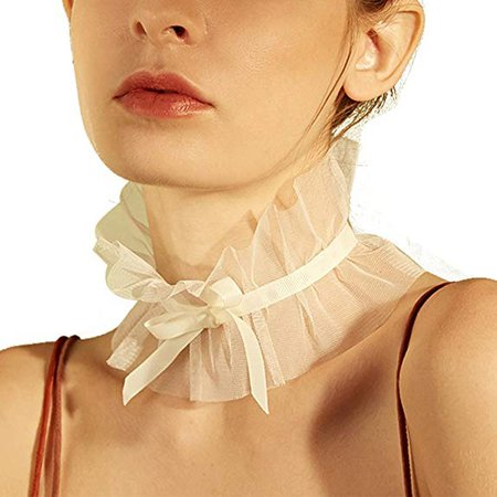 Amazon.com: TOYPOPOR Vintage Choker Lace Necklace Bride Bridesmaid Dress Accessories Bow Tie Lace Neck for Womens Girls: Clothing