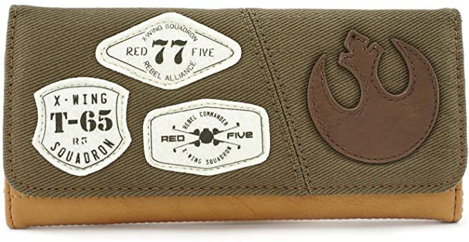 Loungefly x Star Wars Rebel Resistance Bifold Wallet, Green, One Size at Amazon Women's Clothing store
