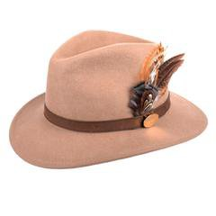 The Suffolk Fedora in Camel (Gamebird Feather) – Hicks & Brown