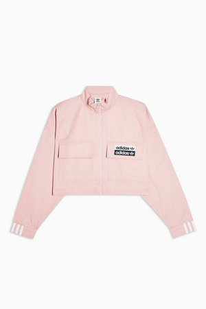 Pink High Neck Sweatshirt by adidas | Topshop