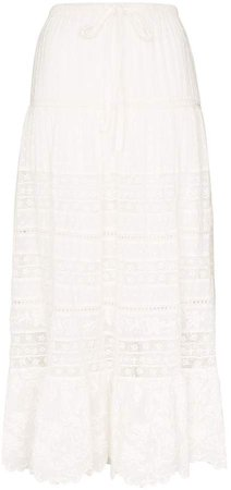 Donna lace maxi skirt