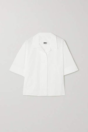 Oversized Cotton Shirt - White