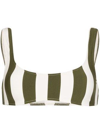 Solid & Striped Elle Striped Bikini Top | Farfetch.com