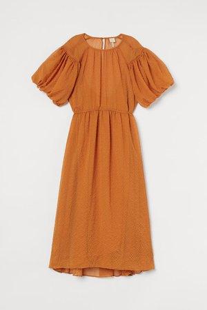 Szeroka sukienka - Pomarańczowy - ONA | H&M PL