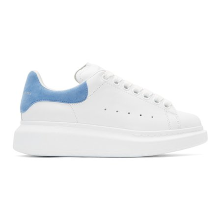 Alexander McQueen White & Blue Sneakers