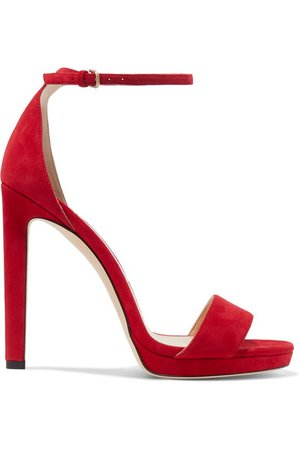Jimmy Choo | Misty 120 suede platform sandals | NET-A-PORTER.COM