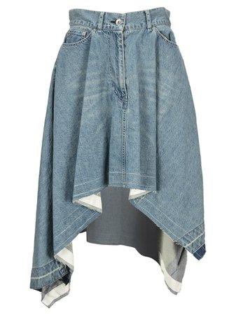 Sacai Asymmetric Denim Skirt