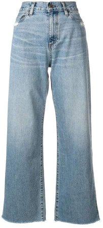 high waisted wide-leg jeans