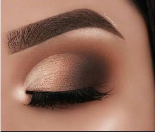 light and dark brown eyeshadow