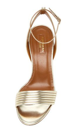 Sundance Metallic Leather Sandals By Aquazzura   Moda Operandi