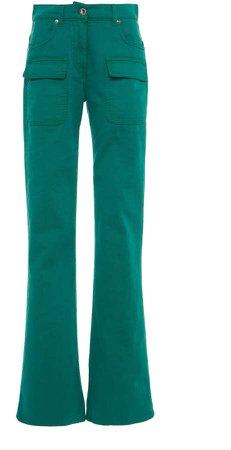 Alberta Ferretti Stretch Cotton Bootcut Pants