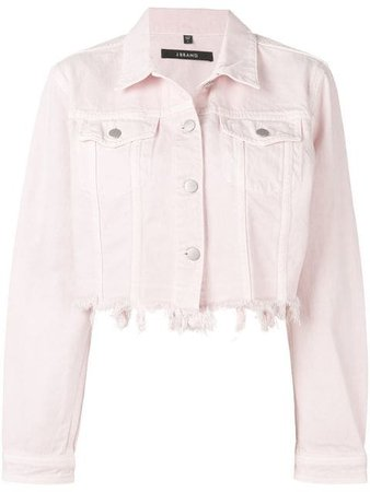 distressed denim jacket $298