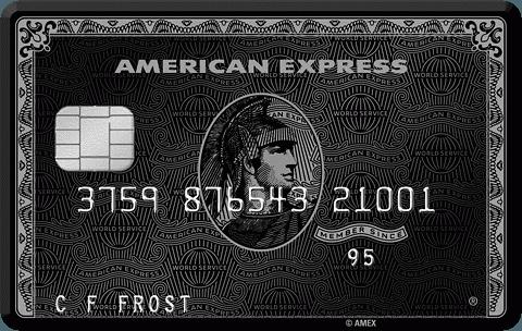amex card black