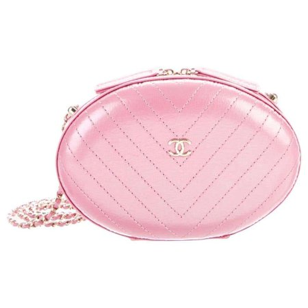 Chanel NEW Runway Pink Leather Gold Chain Small Evening Shoulder Bag For Sale at 1stDibs